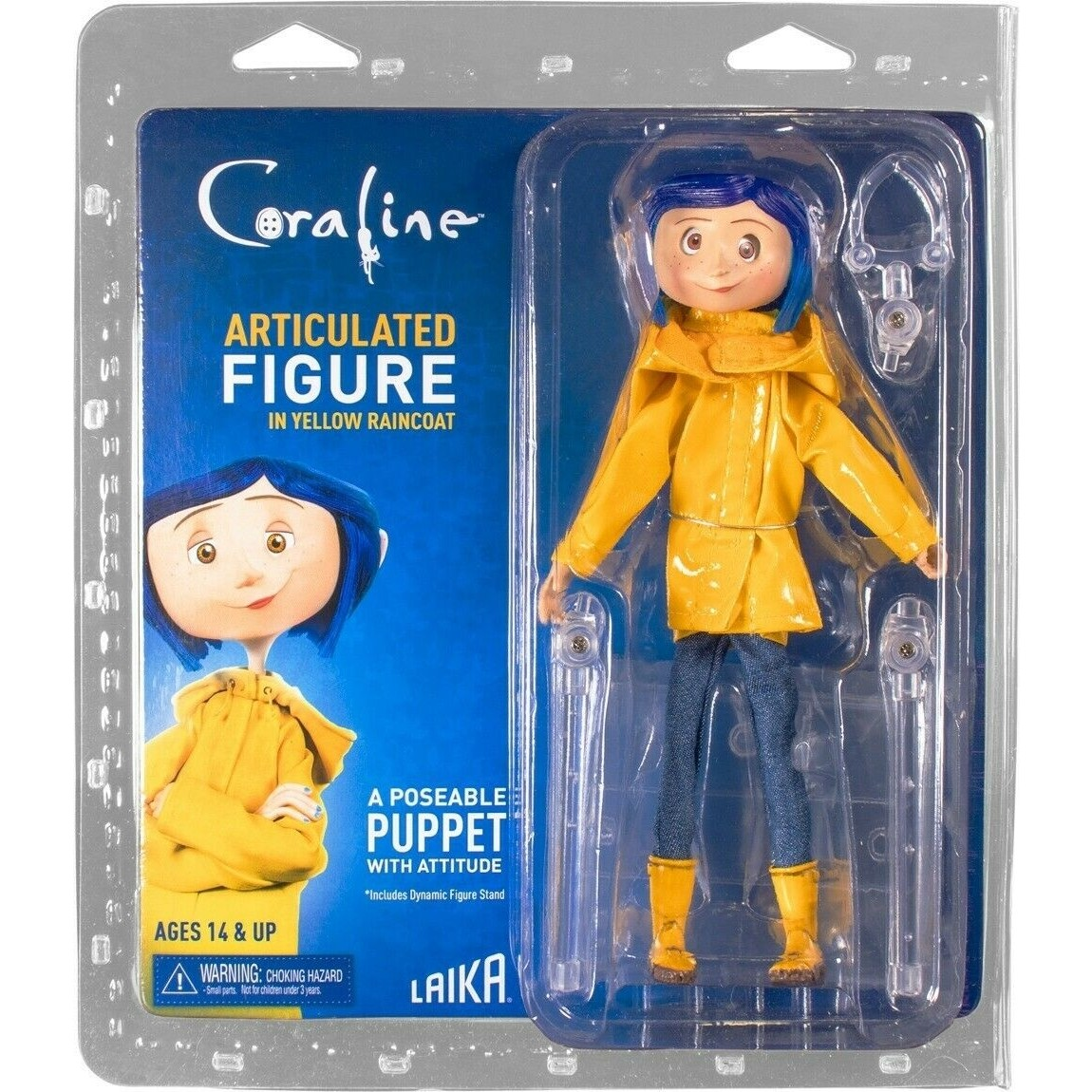 Coraline In Raincoat Articulated Figure Neca Official