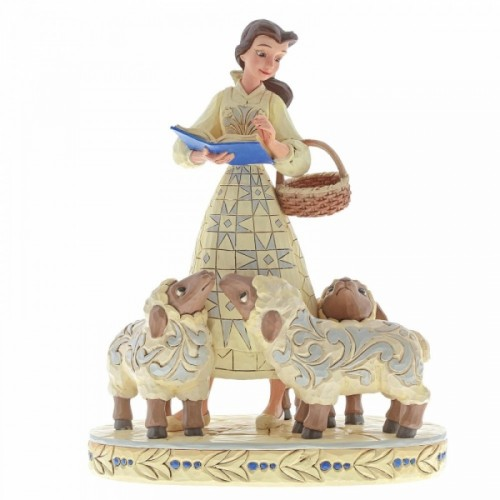 Disney Traditions Beauty and the Beast Bookish Beauty (Belle with Sheep Figurine) - Official