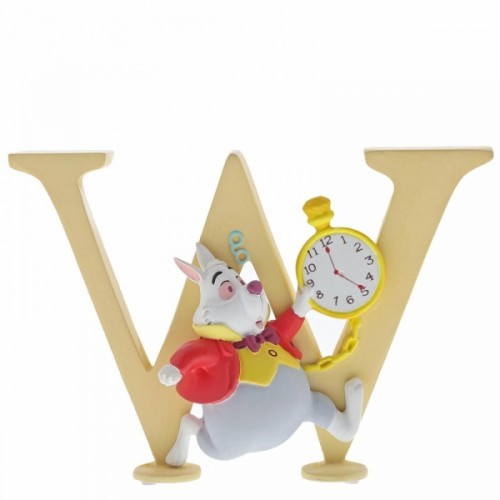 "Disney Enchanting Collection Alphabet Letter ""W"" - White Rabbit - Official"
