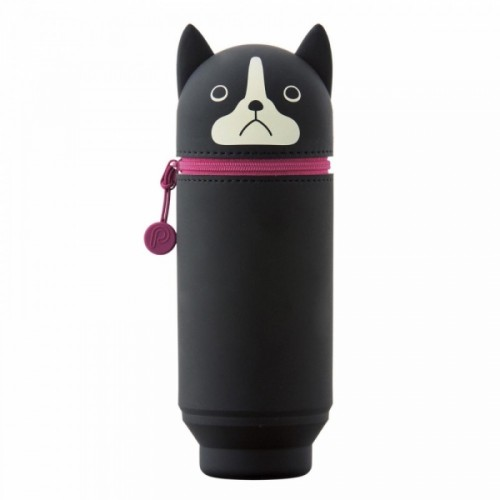 Punilabo Large Boston Terrier Dog Stand Up Pen Case Lihit Lab - Official - Official