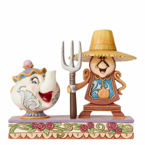 Disney Traditions Workin Round the Clock (Mrs Potts and Cogsworth) - Official