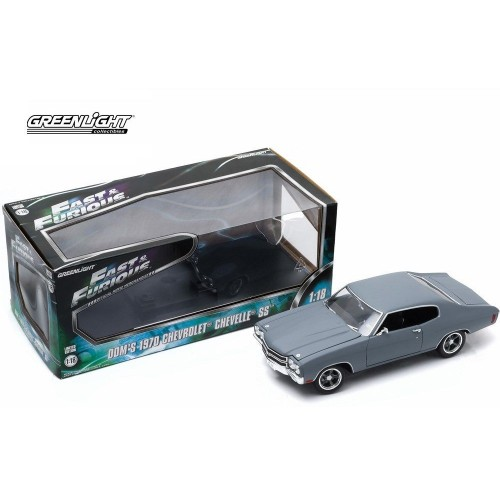 Fast & Furious (2009) 1970 Chevrolet Chevelle SS 1:18 Primer Grey Greenlight - Official
