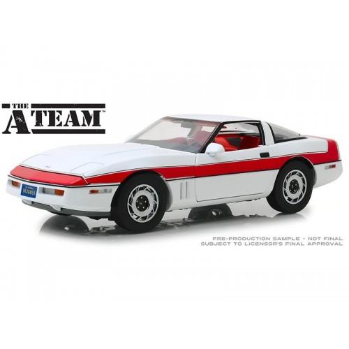 A-Team 1:18 1985 Chevrolet Corvette C4 Diecast Model Greenlight - Official