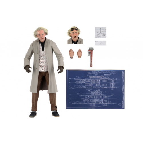 Back to the Future Ultimate Dr Emmett Doc Brown Action Figure Neca - Official