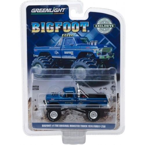 BIGFOOT #1 The Original Monster Truck 1:64 1974 Ford F-250 Greenlight - Official