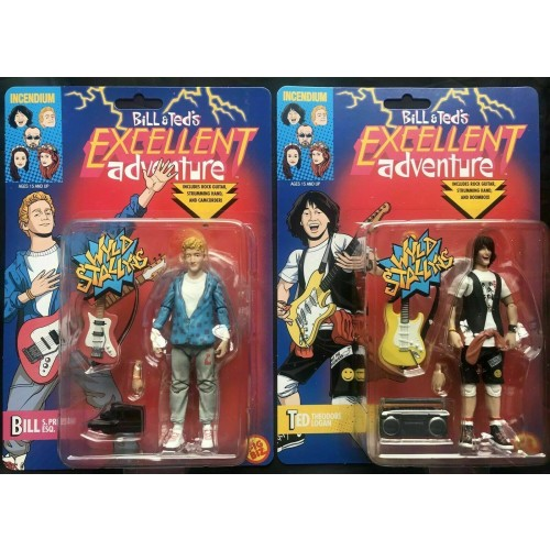 Bill & Ted's Excellent Adventure Bill & Ted Set of 2 FIgBiz Action Figures - Official