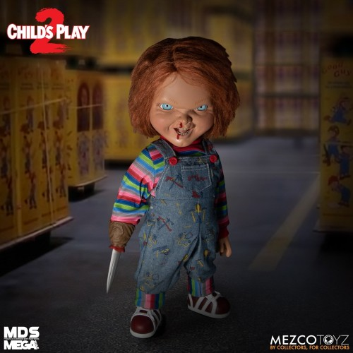 "Child's Play 2 Menacing Chucky Talking 15"" Mega-Scale Doll Mezco - Official"