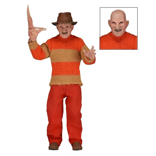 "A Nightmare on Elm Street 8"" Freddy Krueger Classic Video Game Appearance Clothed Action Figure Neca -  Official"