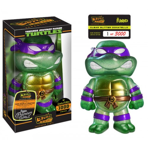 Teenage Mutant Ninja Turtles Clear Glitter Donatello Hikari Sofubi Vinyl Figure - official