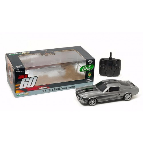GONE IN 60 SIXTY SECONDS RADIO CONTROL 1967 FORD MUSTANG SHELBY GT500 ELEANOR 1:18 GREENLIGHT RC - OFFICIAL