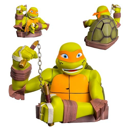 Teenage Mutant Ninja Turtles Michelangelo Bust Bank Money Box - official