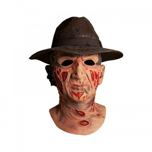 Nightmare on Elm Street Freddy Krueger with hat Delux Latex Mask Trick or Treat Studios - Official