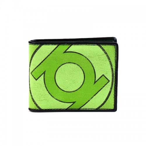 Green Lantern Distressed Retro Logo Bi-Fold Wallet - Official