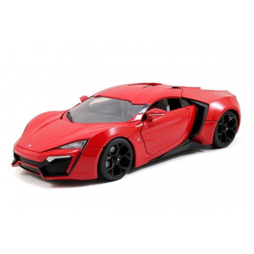 Fast & Furious 1:18 Lykan HyperSport w/ Light up function & Dom Figure Die-Cast Jada Toys - Official