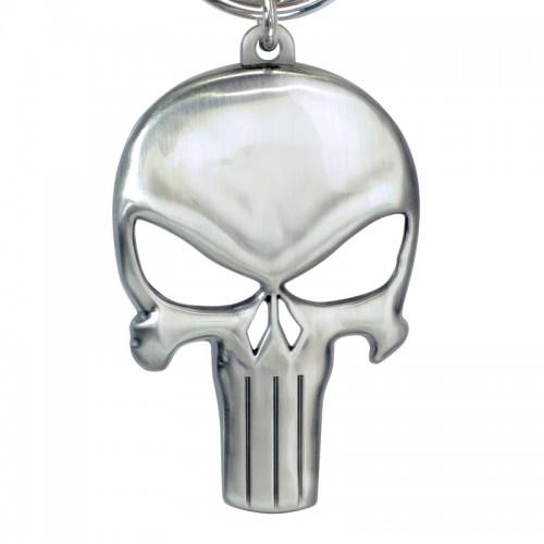 Punisher Skull Symbol Metal Pewter Keyring - OfficIal
