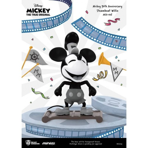 Mickey Mouse 90th Anniversary Steamboat Willie Mini Egg Attack Figure Beast Kingdom - Official