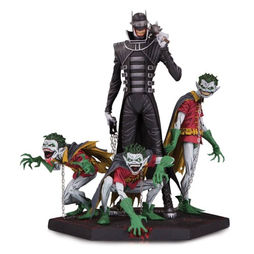 Batman Who Laughs & Robin Minions Dark Nights Metal Deluxe Statue DC Collectibles - Official