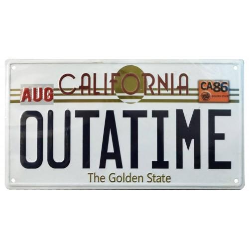 Back To The Future Outatime DeLorean License Plate Metal Sign FaNaTtic - Official