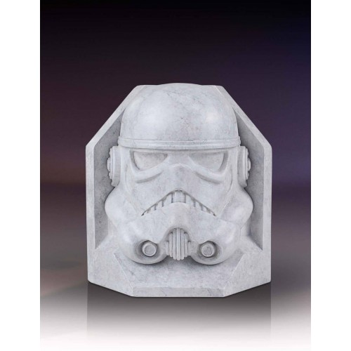 Star Wars Stormtrooper Stonework Faux Marble Bookend Gentle Giant - Official