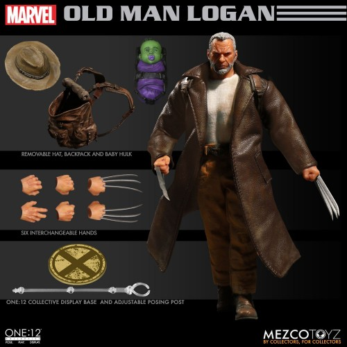 Wolverine One:12 Collective Old Man Logan Action Figure Mezco - Official