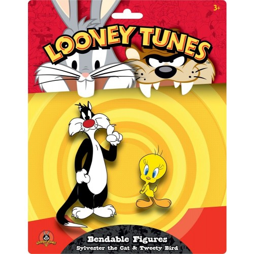Looney Tunes Sylvester the Cat & Tweety Bird Bendable Figures 2-Pack Nj Croce - Official