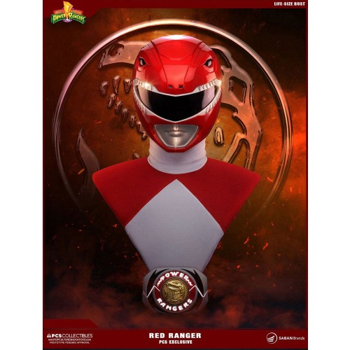 Mighty Morhpin Power Rangers 1/1 Red Ranger Bust Exclusive PCS - OFFICIAL