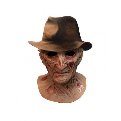 Nightmare on Elm Street 4 Freddy Krueger w/ hat Delux Latex Mask Trick or Treat Studios - Official